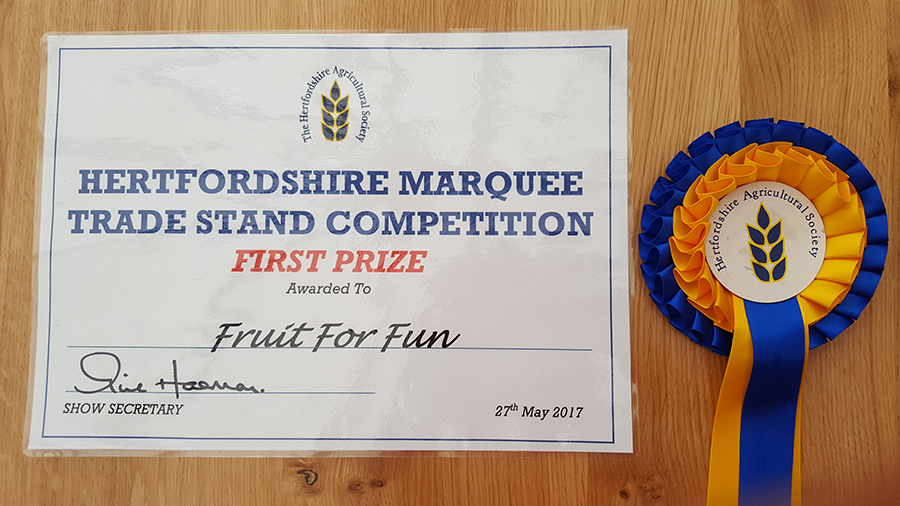 Hertfordshire County Show Certificate and Rosette